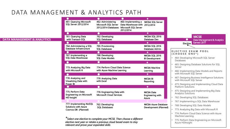 Data Management and Analytics path